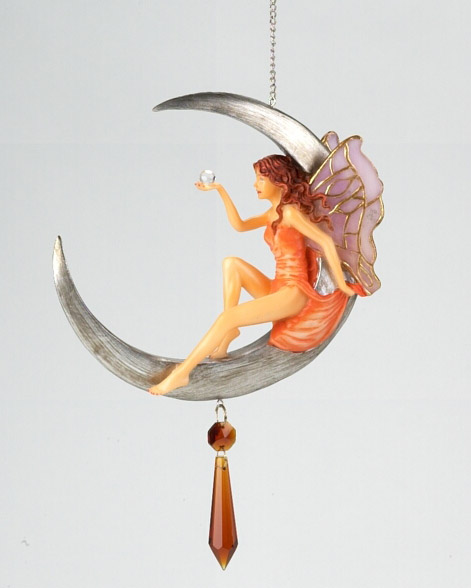 Hanging Fairy on Moon Dreamcatcher